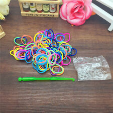 600 PCS Rubber Band Bracelet Refill Kit Rainbow Loom Bands Colorful + DIY Tool