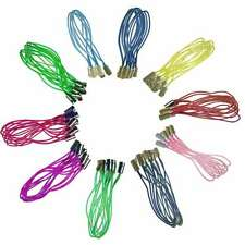 """100pcs Mobile Cell Phone Lanyard Braided Lariat Cords Dangle Straps 50mm/1.97"""""""