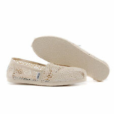 toms Crochet Natural Womens Classics Shoes ,US size