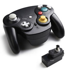 NEW Black Wireless GameCube Controller +Receiver Adapter For Nintendo Wii GC NGC