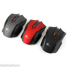 W4 2.4GHz 6D 2400DPI Wireless Optical Gaming Mouse Receiver Windows XP/Vista