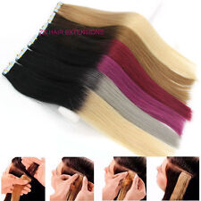 "16-24"" Ombre Seamles PU Hair Weft Skin Tape in Remy Human Hair Extensions 20pcs"