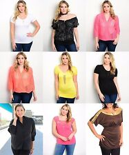 Wholesale Lot 30 Womens Mixed Tops Shirts Blouse Dress Queen Plus Size XL 2X 3X