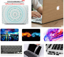 """4in1 Hard case Rubberized keyboard cover For Macbook Pro Air touch bar 11 13 15"""""""