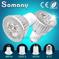 LED Spotlight GU10 GU5.3 E27 MR16 Dimmable Bulb 220V 110V 12V Led Spot Light 3W