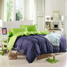 Solid Duvet Quilt Doona Cover Set Queen King Single Double Size Bed Covers New