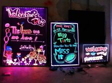 "32x24"" Flashing Illuminated Erasable Neon LED Message Menu Sign Writing Board OY"