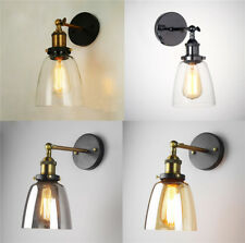 Vintage Industrial Retro 4 Glass Bell Shade Wall Light Lamp Sconce Bedroom Home
