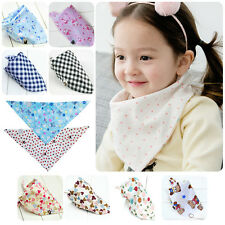 Baby Boys Girls Kids Bibs Toddler Bandana Triangle Head Scarf Cute Saliva Towel