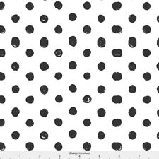 Black and White Polka Dot Fabric Printed by Spoonflower BTY