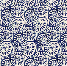 Abstract Navy Blue Fabric Printed by Spoonflower BTY