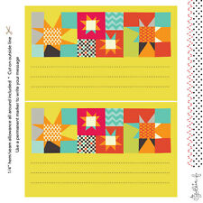 Quilt Label Fabric Printed by Spoonflower BTY
