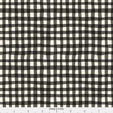 Plaid Black And White Fabric Printed by Spoonflower BTY