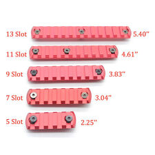 Red Anodized 5/7/9/11/13 Slots Picatinny Rail Section Keymod Handguard System