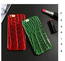 New Alligator Skin Crocodile Case For iPhone 6s 7 plus PU Leather Snake Cover