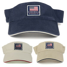 America Established 1776 Embroidered Cotton Washed Twill Visor(FREE SHIPPING)
