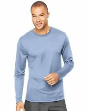 Lot of 2 Hanes Cool DRI Performance Men's Long-Sleeve T-Shirt  #482L