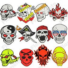 Motorcycle Motocross ATV Racing Bike Skull Crossbones Gas Tank Sticker Decals