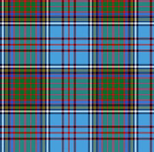 Blue Plaid Fabric Printed by Spoonflower BTY