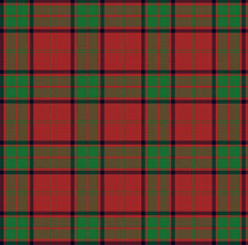 Red and Green Plaid Fabric Printed by Spoonflower BTY
