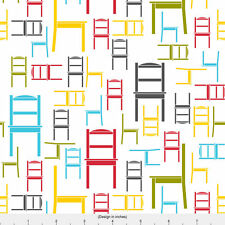 Rainbow Chairs Fabric Printed by Spoonflower BTY
