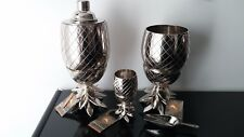 Tommy Bahama Metal PINEAPPLE Cocktail Shakers in SILVER or GOLD NEW WITH TAGS!