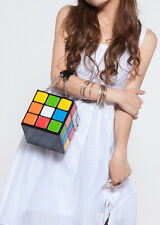 Women's Fashion Bag Cute Rubik's Cube Casual Tote Stachel Handbag Clutch