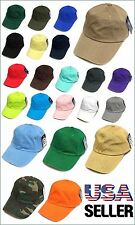 Vintage Cotton Cap Baseball Caps Adjustable Polo Style Hat Washed Plain Solid
