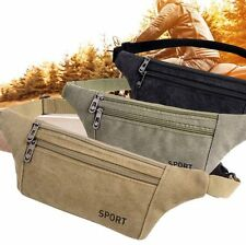 Two Zipper Pocket Fanny Pack Chest Waist Belt Bag Cell Phone Pouch Travel Pocket