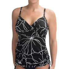 NEW Trimshaper Miraclesuit Size 16 Wendy Lady Luck Black Tankini Top Swimsuit