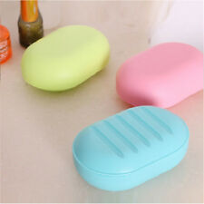 Nice Candy Color Soap Dish Box Case Holder Container Bathroom Wash Shower