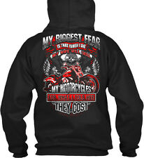 [ ] My Biggest Fear Is That When I Die Wife Will Sell Gildan Hoodie Sweatshirt