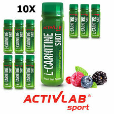 10 x L-CARNITINE Shot 80 ml Turns Fat Into Energy Effective Slimming Fat Loss