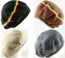 1 Piece 100% Cotton Rasta Tam Beret Cap Hat Crown Reggae Marley Jamaica
