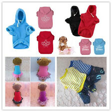 Fashion Pet Cat Dog Clothes T-Shirt Puppy Cute Cotton Vest Coat Apparel Costumes