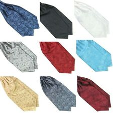 Men's Self TieAscot Tie Cravat Neck Tie Printed Satin Scarf Wedding Pocket Scarf
