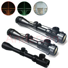Red And Green Illuminated Scope Hunting Rifle Sight Tactical Gun Dot Mount New