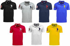 Mens US POLO ASSN Short Sleeve POLO Shirt Top