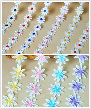 """1"""" (25mm) Sunflower Embroidered Lace Sewing DIY Craft Trim Applique 1228# 1274#"""