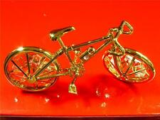 BICYCLE - 24-KT GOLD PLATED WITH FINE AUSTRIAN CRYSTAL MINI BICYCLE NEW WITH BOX
