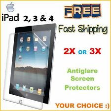 2x or 3x Clear Matte Screen Protector Film Guard iPad 2 3 4 FREE FAST SHIPPING