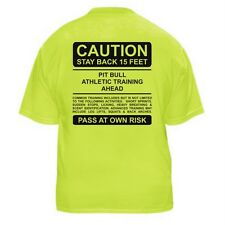 PIT BULL FUNNY DOG LOVER T-SHIRT - CAUTION - Sizes Small through 5XL