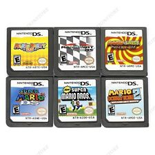 6Pcs MARIO Game Card Child Children Gift For Nintendo DS NDS DSI 3DS US/Version1
