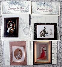 Choice NIP Lavender & Lace Cross Stitch Charts Bride Little Wings Lady of Thread