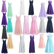 Flower Kids Girls Party Formal Wedding Bridesmaid Pageant Prom Christening Dress
