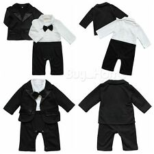 2pcs Toddler Newborn Baby Boy Gentlemen T-shirt Tops+Pants Outfits Set Clothes