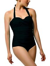 Vintage One Piece Swimsuits for Women Ruched Push Up Bathing Suits
