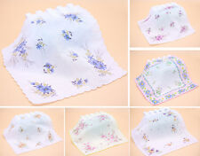 Lot 10 Popular Vintage Style Floral Handkerchief Lady Women Cotton Hanky