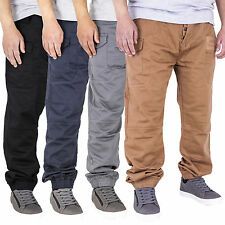 New Mens Cuffed Regular Fit Denim Fashion Joggers Jeans Big King Sizes