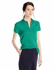 Lacoste Women's Short Sleeve Slim Fit Stretch Pique Polo, PF7845
